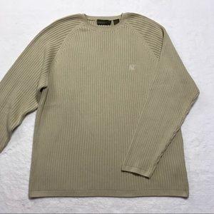 Timberland Mens Beige Sweater Ribbed Crewneck XL